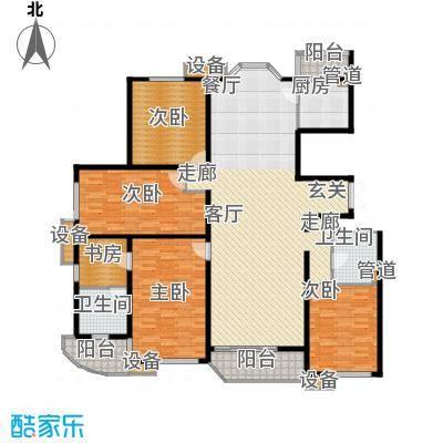 自在香山自在香山户型图户型图4室2厅2卫1厨户型4室2厅2卫1厨