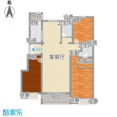 正源・尚峰尚水源墅151.00㎡B5号楼G户型(售罄)户型3室2厅2卫1厨