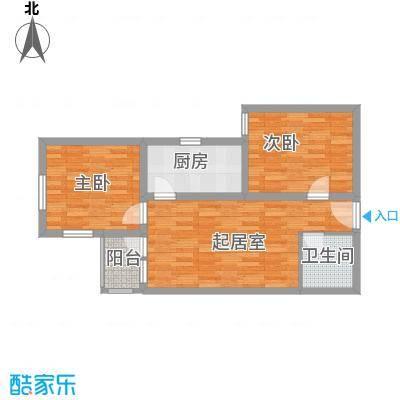 兴隆家园76.63㎡户型2室1厅1卫1厨