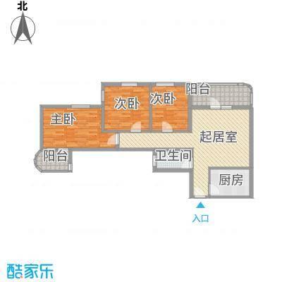 兴隆家园104.34㎡户型3室1厅1卫1厨