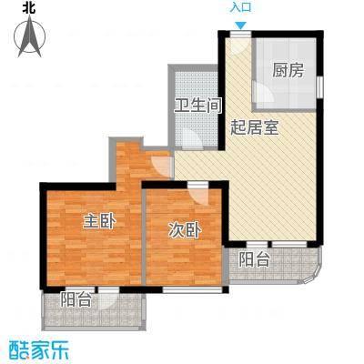 兴隆家园91.81㎡户型2室1厅1卫1厨