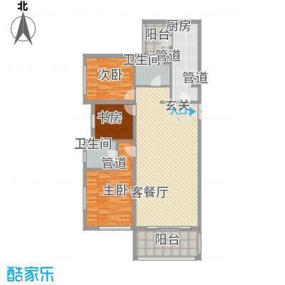 大唐天下江山156.74㎡琪户型3室2厅2卫1厨