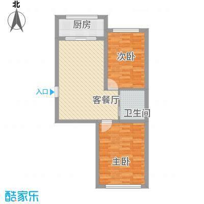 金地卡诗维亚72.21㎡4栋A3户型2室2厅1卫