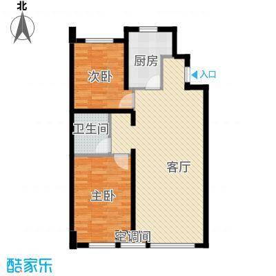 江山印象90.92㎡C户型2室1厅1卫1厨
