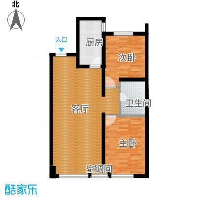 江山印象88.57㎡G户型2室1厅1卫1厨
