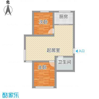 红光秀苑86.20㎡二、三、四号楼J户型86.2㎡户型2室2厅1卫1厨