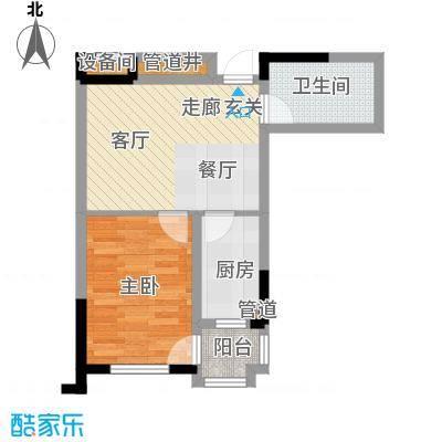 帕萨迪纳54.52㎡GE户型1室2厅1卫