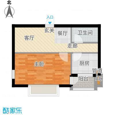 帕萨迪纳42.85㎡Db户型1室1厅1卫1厨