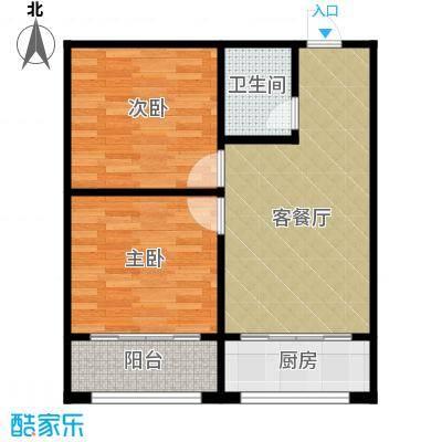 嘉寓观山81.00㎡Z3户型2室1厅1卫1厨
