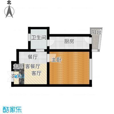 鑫隆帝豪61.75㎡户型1室1厅1卫