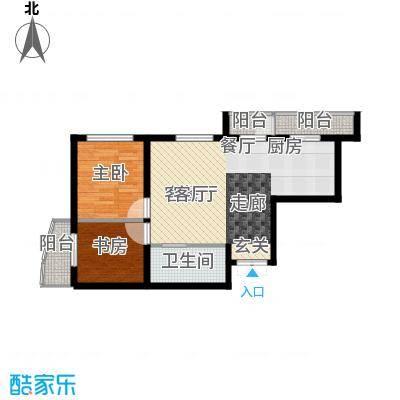 鑫隆帝豪66.81㎡户型2室1厅1卫