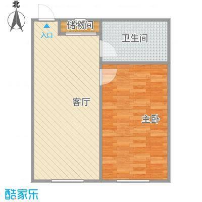 嘉寓观山61.78㎡D97-19-2户型1室1厅1卫