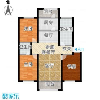 望云山景134.20㎡9号楼户型3室2厅2卫1厨
