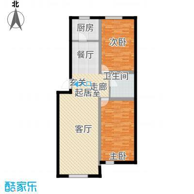 宁泰景园118.15㎡118.15户型2室2厅1卫1厨