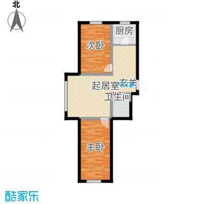 宁泰景园91.41㎡定稿-户型91.41户型2室2厅1卫1厨