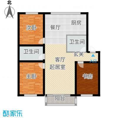 鸿博锦绣花园127.00㎡鸿博锦绣花园127.00㎡3室户型3室