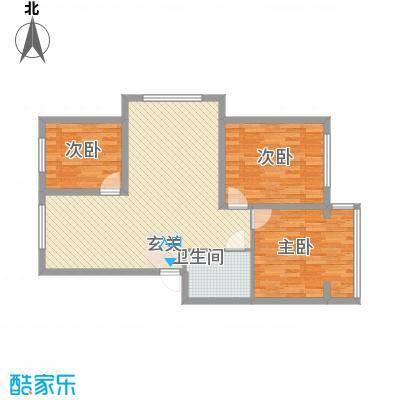 金岸名苑枫景轩107.00㎡G1户型3室2厅