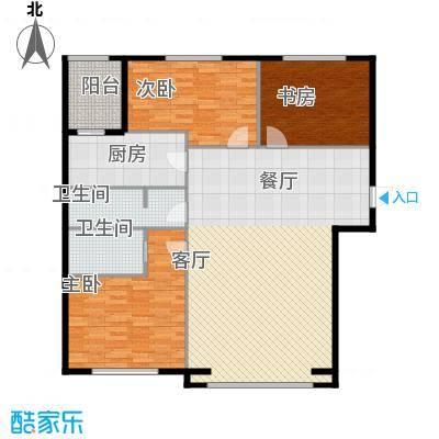 福顺江山134.90㎡富顺江山户型3室2厅2卫1厨