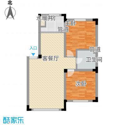 绿地福林85.00㎡A1户型2室2厅1卫1厨