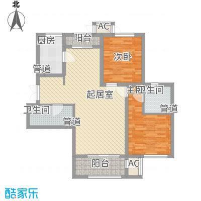 龙城帝景103.00㎡3、4号楼A户型2室2厅2卫1厨