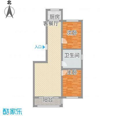 金地卡诗维亚83.19㎡3栋E户型2室2厅1卫