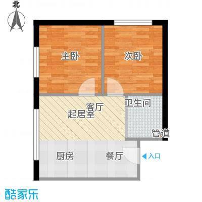 公交集团御苑小区户型2室1厅1卫1厨