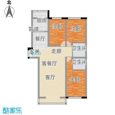 天鸿嘉园1#2#楼户型3室1厅1卫1厨
