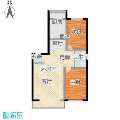 天鸿嘉园113.00㎡3#楼户型2室1厅1卫1厨