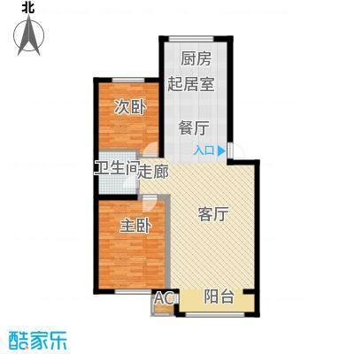 盈胜毓园82.16㎡盈胜毓园82.16㎡2室1厅1卫1厨户型2室1厅1卫1厨