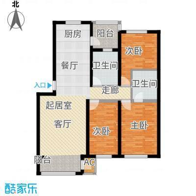 盈胜毓园132.27㎡盈胜毓园132.27㎡3室2厅2卫1厨户型3室2厅2卫1厨