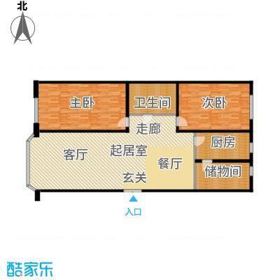 世纪花园164.30㎡8-1-C户型2室2厅1卫1厨