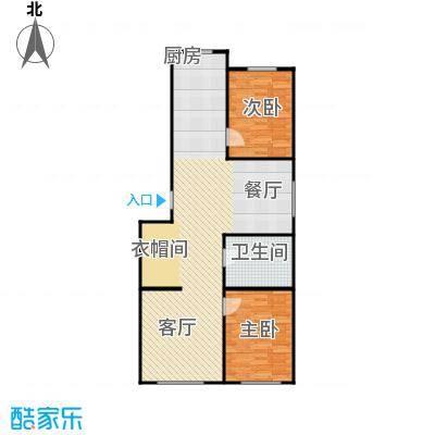 森晟江湾馨城119.29㎡5#楼户型2室1厅1卫