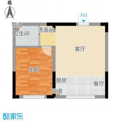 恒隆通潭富苑59.67㎡B户型59.67㎡户型1室1厅1卫1厨