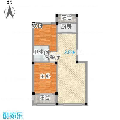桃源山庄峰景81.69㎡D户型2室2厅1卫