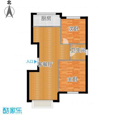 香山景园93.33㎡户型2室1厅1卫1厨