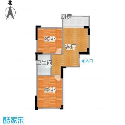 香山景园75.03㎡户型2室1厅1卫
