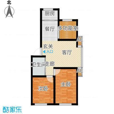 筑石居易户型d户型3室2厅1卫1厨