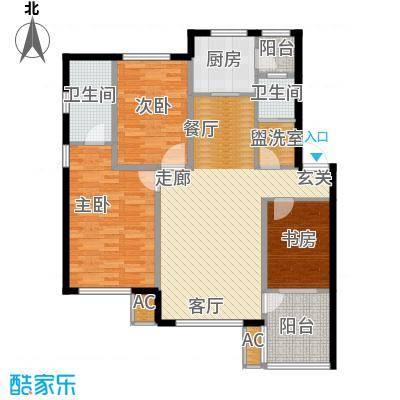 筑石居易119.67㎡户型a户型3室2厅2卫1厨