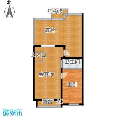 筑石居易户型g+户型3室3厅2卫1厨