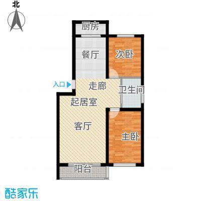 铁路南区绿景馨苑221户型2室2厅1卫1厨