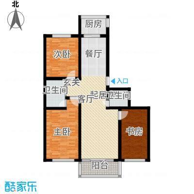 铁成骏景花园116.00㎡铁成骏景花园116.00㎡3室2厅2卫1厨户型3室2厅2卫1厨