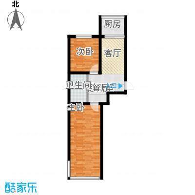 铁成骏景花园60.00㎡铁成骏景花园60.00㎡2室1厅1卫1厨户型2室1厅1卫1厨