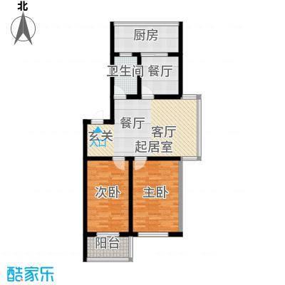 铁成骏景花园90.00㎡铁成骏景花园90.00㎡2室2厅1卫1厨户型2室2厅1卫1厨