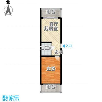 铁成骏景花园55.00㎡铁成骏景花园55.00㎡1室1厅1卫1厨户型1室1厅1卫1厨