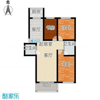 铁成骏景花园117.00㎡铁成骏景花园117.00㎡3室2厅2卫1厨户型3室2厅2卫1厨