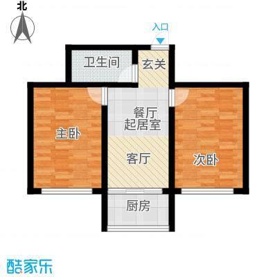 铁成骏景花园70.00㎡铁成骏景花园70.00㎡2室2厅1卫1厨户型2室2厅1卫1厨