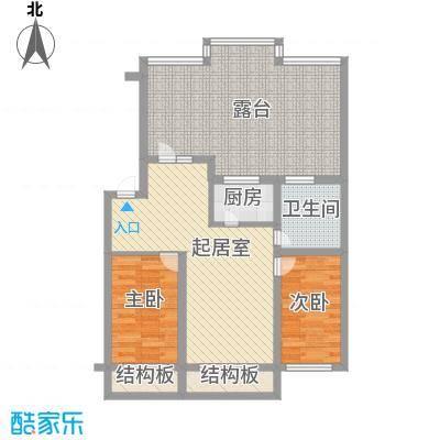 伊江丽景花园108.00㎡户型2室2厅1卫1厨