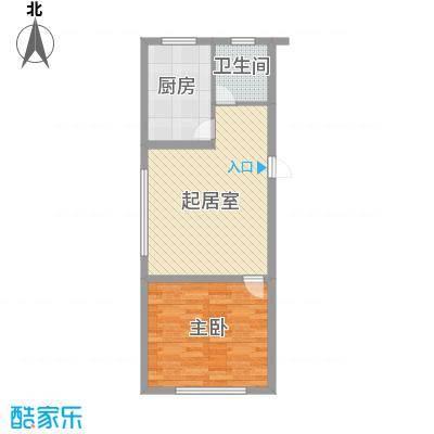 伊江丽景花园66.00㎡户型1室1厅1卫1厨