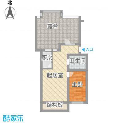 伊江丽景花园71.00㎡户型1室1厅1卫1厨