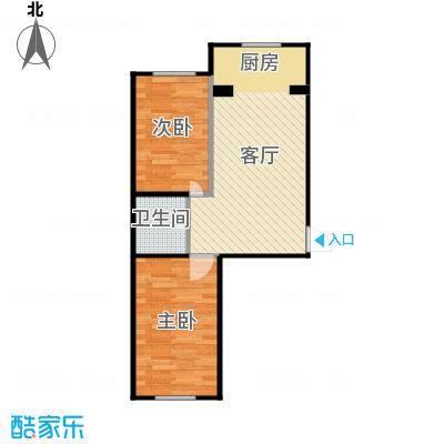 新地山湾66.10㎡B户型2室1厅1卫